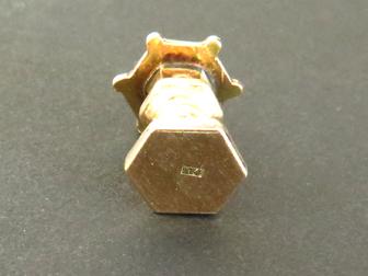 14K Gold Japanese Birdhouse Charm