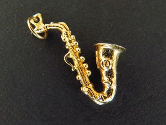 14K Gold Saxophone Charm