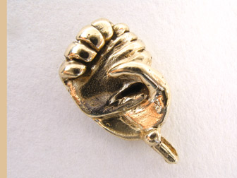 Gold Clasped Hands Charm