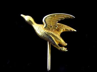 GoldDuckStickpin13280