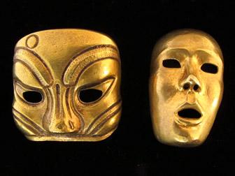 Isabel Canovus African Mask Earrings