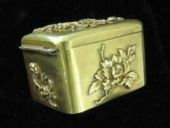 Japanese Mixed Metal Stamp Box