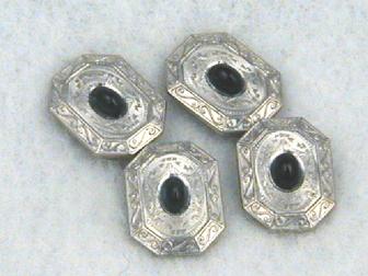 Platinum Gold Sapphire Cufflinks