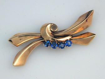 Retro Sapphire Pin
