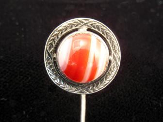 Silver Agate Stickpin