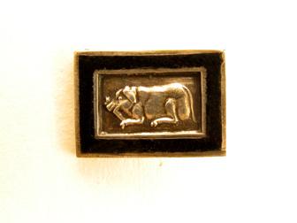 Silver Enamel Creature Stickpin