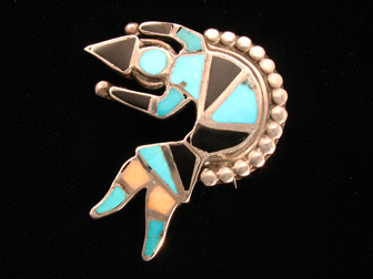 Zuni Inlay Rainbow Man