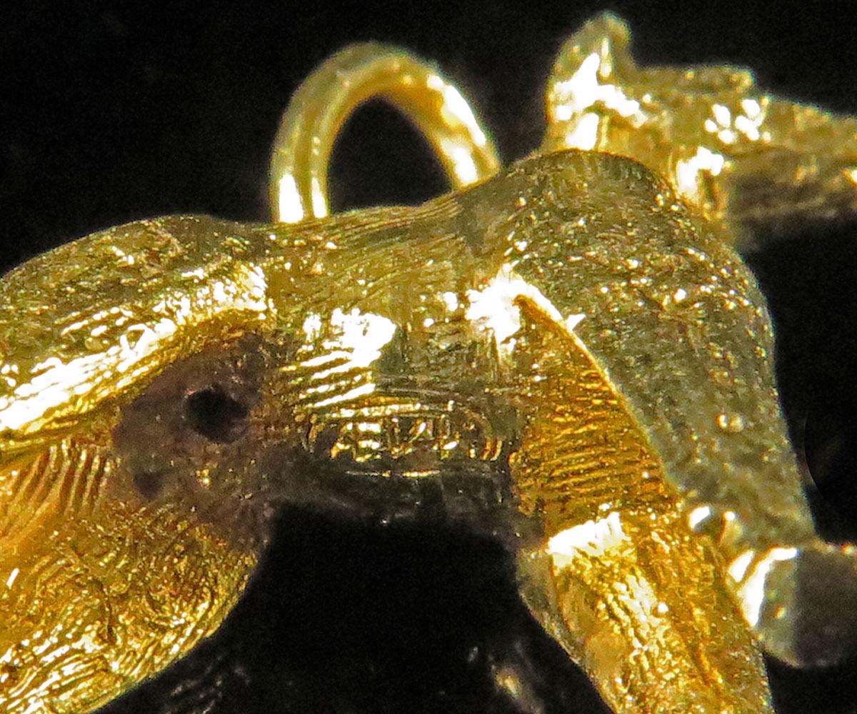 Gold Doberman Pinscher Charm