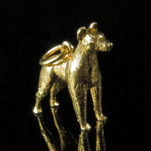Gold Doberman Pinscher Charm