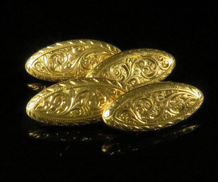Victorian Gold English Cufflinks