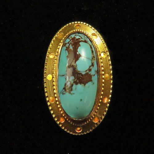 Gold Turquoise Stickpin