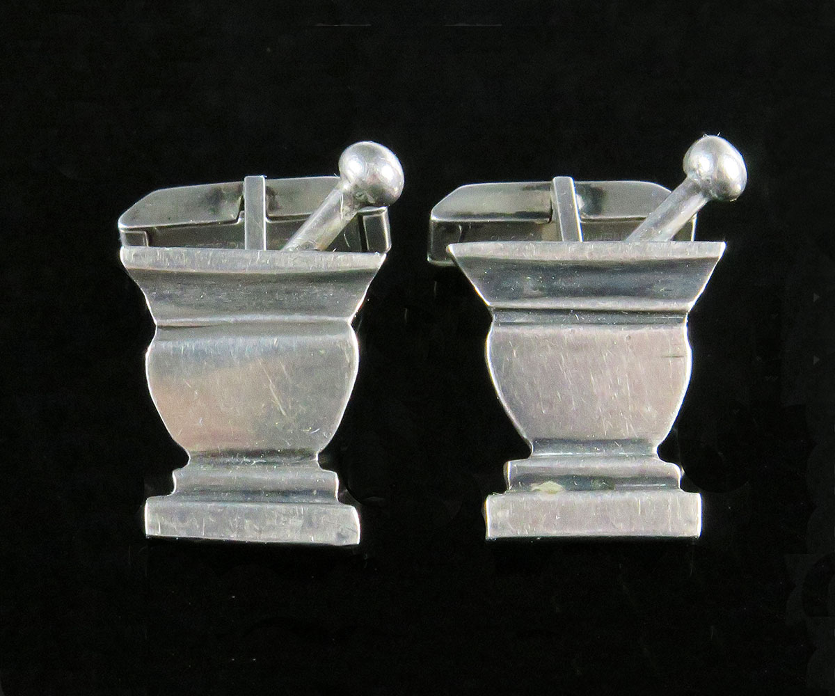 Sterling Mortar and Pestle Cufflinks