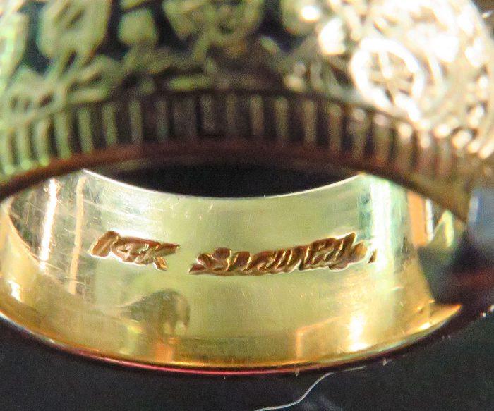Gold Enamel Hawaiian Phyllis Band