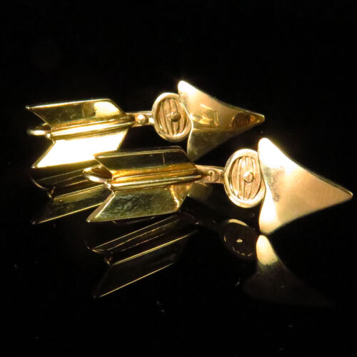 Gold Arrow Cufflinks
