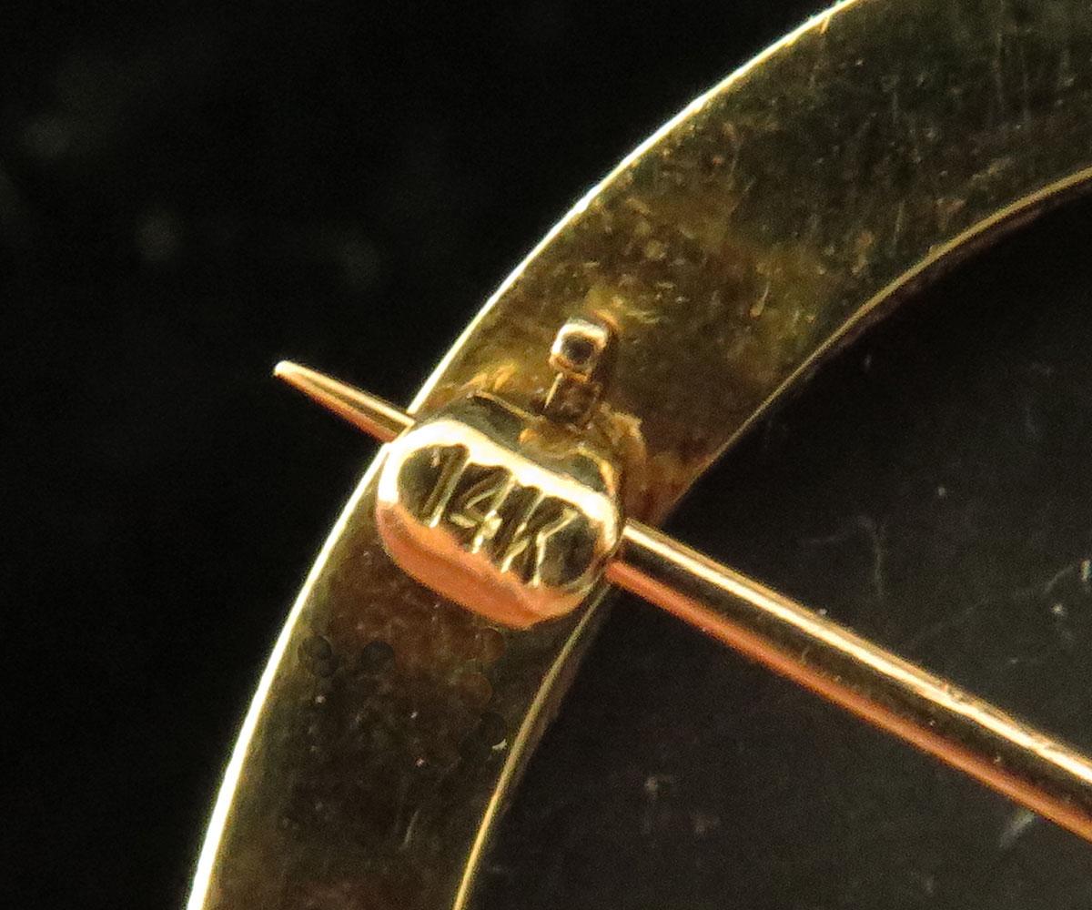 Gold Lava Gents Cameo Portrai Pin Pendant