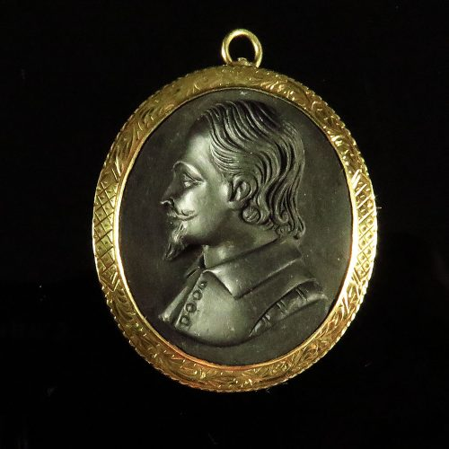 Gold Lava Gents Cameo Portrai Pin Pendant