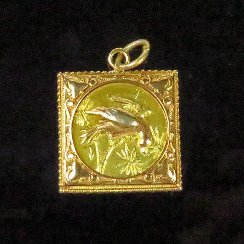 Gold Victorian Bird Charm