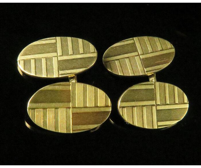 Gold Deco Cufflinks