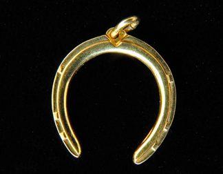 14K Gold Horseshoe Charm