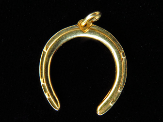 14K Gold Horseshoe Charm