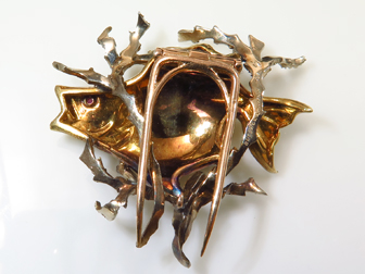 18K Gold Buccellati Fish Pin