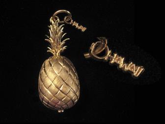 18K Hawaii Pineapple Charm
