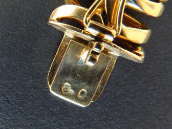 18K Yellow Gold Flat Snake Link Bracelet
