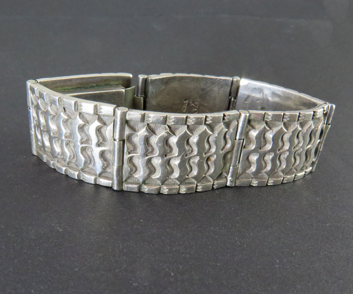 Sterling Hand Tooled Linked Bracelet