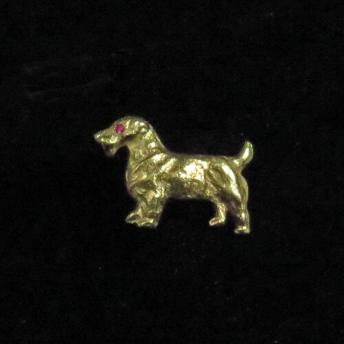 Gold Terrier Stickpin
