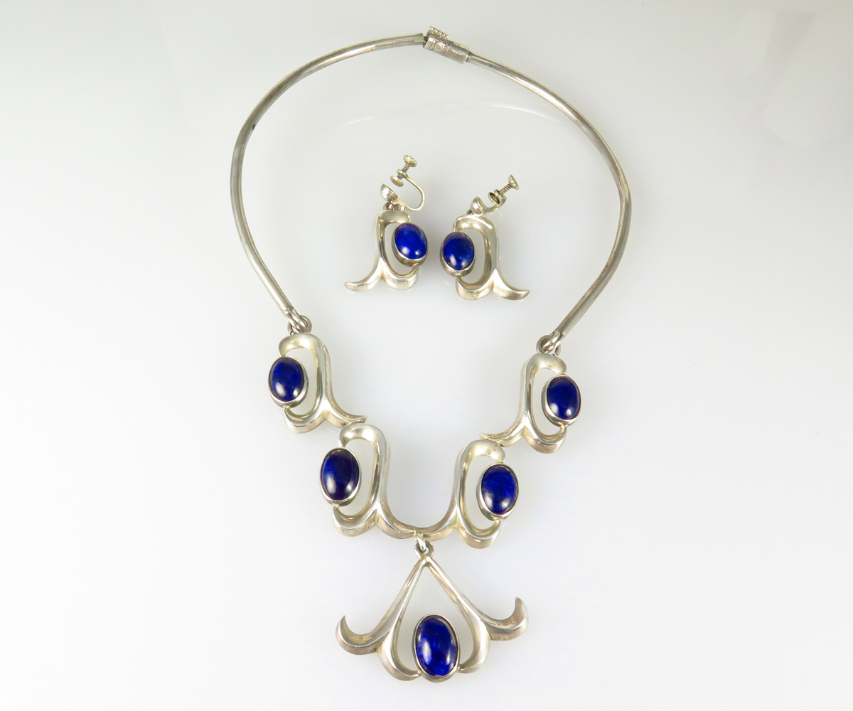 Sterling Mexican Sodalite Set