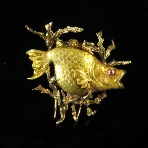 Buccellati Gold Fish Pin
