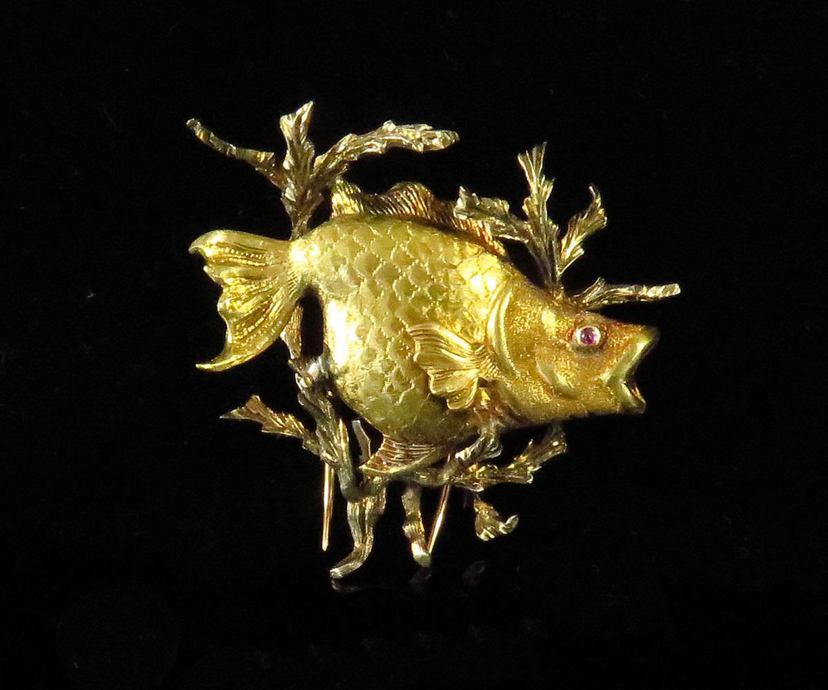 Buccellati Gold Fish Pin