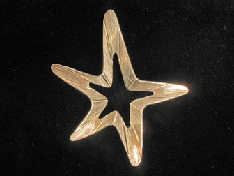 Beau Sterling Star Pin