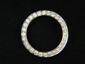 Diamond Circle Pin