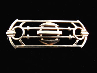 Gold Deco Brooch