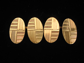 Gold Deco Cufflinks