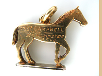 Gold Diamond Horse Fob