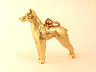 Gold Doberman Charm