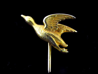 Gold Duck Stickpin