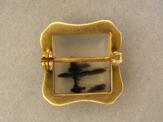Gold Moss Agate Pin