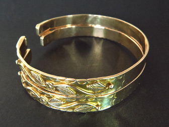 Pair of 14K Gold Decorative Bracelets