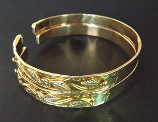 Pair 14K Gold Decorative Bracelets