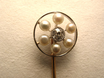 Pearl Diamond Stickpin