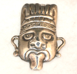 Pin Mexican Silver Deity Face