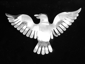 Sterling Calvaire Dove PIn
