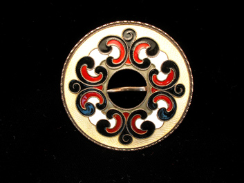 Sterling Enamel Brooch