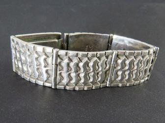 Sterling Hand Tooled Linked Bracelet