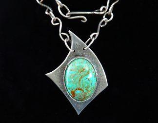 Sterling Handmade Modernist Pendant