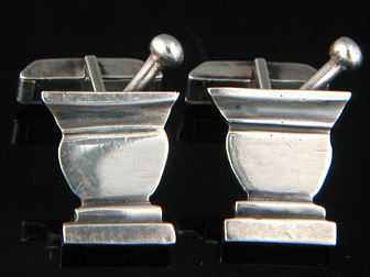 Sterling Mortar Pestle Cufflinks