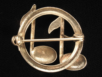 Sterling Musical Notes Pin